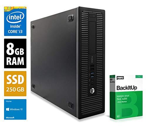 HP ProDesk 600 G1 SFF - Core i3-4130 @ 3,4 GHz - 8GB RAM - 250GB SSD - Win10Home (Zertifiziert und Generalüberholt)