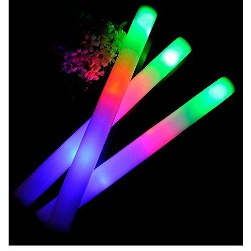 45,7 cm Multi Couleur en mousse Orchestre Bâtons lumineux à LED – Piles Incluses – Parti cas Décoration Fournitures, multicolore, 18\