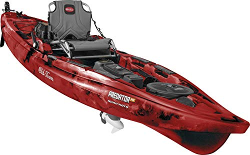 Old Town Predator MK Fishing Kayak with Motor and Rudder (Black Cherry, 13 Feet 2 Inches)