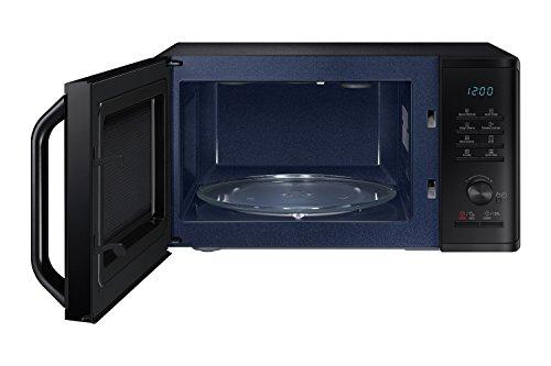 Samsung MG23K3515CK Forno Microonde, 23 Litri, 800, Grill 1100 W,Scongelamento Rapido, 330 x 324 x 211 mm, Nero