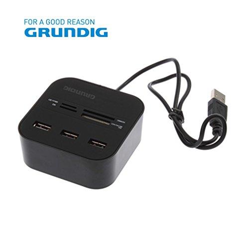 Grundig HUB 7 in 1 USB 2.0 kaartlezer - GRUNDIG