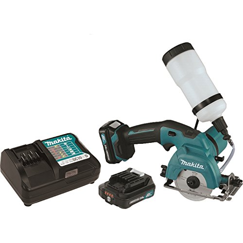 Makita CC02R1 12V MAX CXT Lithium-Ion Cordless Tile/Glass Saw Kit, 3-3/8""