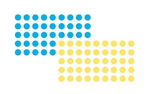 Franken GmbH UMZ P19/34 Markierungspunkte selbstklebend (19 mm, jede 520) 1040 Stück, blau/gelb