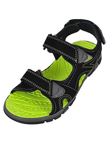 Khombu Boy's River Sandal Black/Neon Size 12 M US