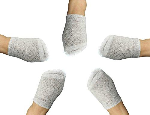 Yomandamor Womens Bamboo 5 Pairs Breathable Toe Topper Socks with Cushion Bottom and Seamless Toe
