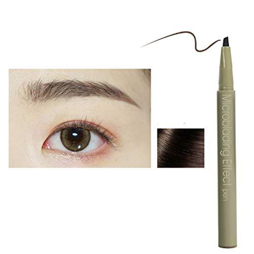 Langlebiger Microblading-Effekt-Stift Augenbrauner Bleistift Microblading-Augenbrauenstift Wasserdichter Augenbrauenstift Erzeugt mühelos tägliches Make-up für natürliche Augenbrauen (grau braun, 1pc)