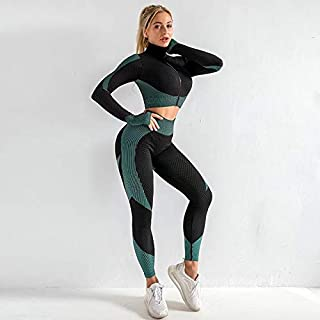 LaoZan Conjuntos De Ropa Deportiva 2 Piezas Chaleco Gym Camiseta Sin Mangas Fitness Yoga Jogging Mallas Leggins Mujer