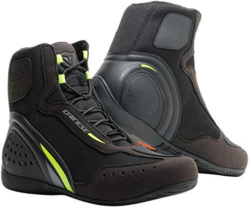 Dainese Motorshoe D1 Air - Botas de moto, color negro y amarillo neón 45