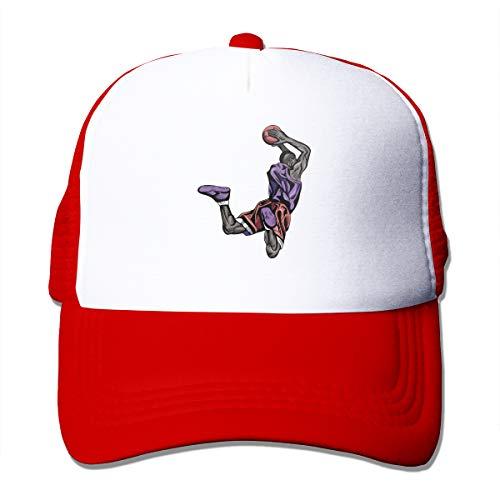 Wfispiy Basketballspieler Mesh Pink Outdoor Cap Papa Hut Soft Cotton Cap