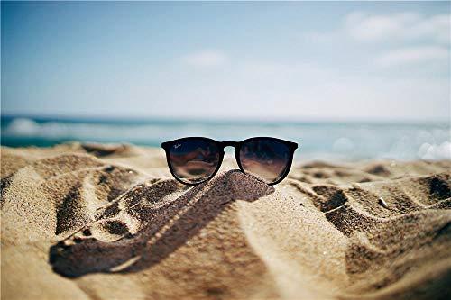 N\A Kit De Pintura DIY 5D Diamond para Adultos Y Niños Gafas En La Playa Puntada Cruzada del Bordado De Acrílico del Taladro Completo 30X40Cm
