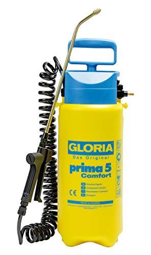 Gloria Prima 5 Comfort, pulverizador de presión de 5 litros con Manguera Espiral de 2,5 m