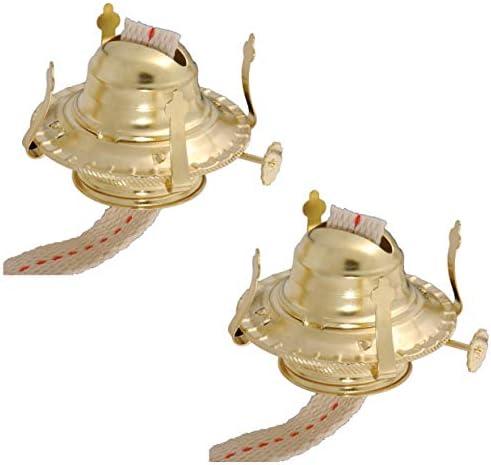 B P Lamp 2 Kerosene Lamp Burner Brass 2 Pack product image
