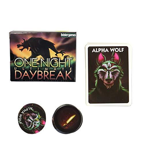 Juego de Mesa uno Noche Ultimate Werewolf, Daybreak, Vampire, Alien, Super Villains, Bonus Roles Tabla de Mesa Juego para Family Party (Color : Daybreak Box)