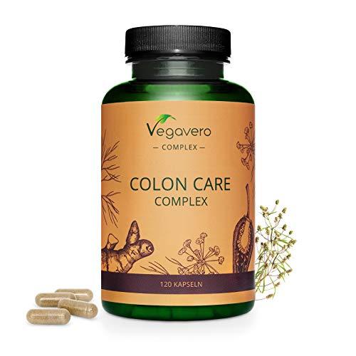 Colon Care Complex Vegavero® | Detox + Digestión + Limpieza Intestinal + Colon Irritable + Toxinas | 120 Cápsulas | Probióticos con Jengibre + Psyllium + Hinojo + Capsicum Annuum