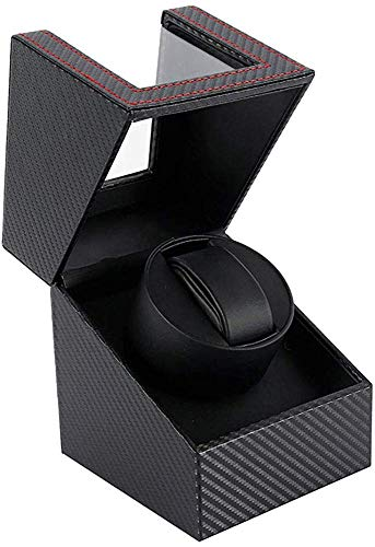 Puzzlos Caja de Carga automática para Reloj, Cuero sintético portátil, Soporte para Reloj eléctrico, rotación Ultra silenciosa para Hombres y Mujeres
