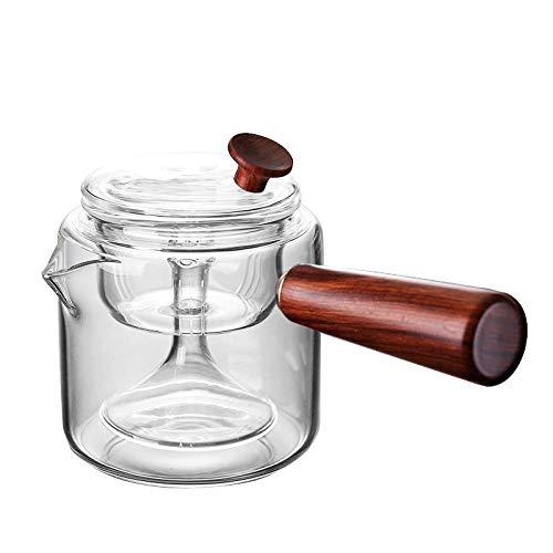 Glazen theepot Theepotten Glazen Theepot Hittebestendig Glas Stoomende theepot Thee Koker Hoge Temperatuur Thee Filter 450ml