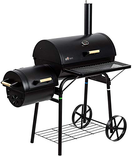 E. Fuego Grill Smoker Holzkohlegrill Grillwagen