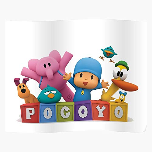 RESIGN Pato Tv Pocoyo Fouryo Poster Elly I S Poster Gift for Home Decor Wall Art Print Poster