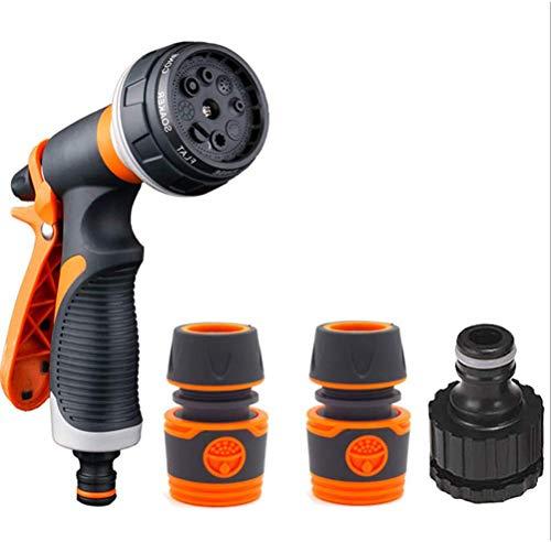 SDFY Pistola de Riego de Alta Presión Pistola de Agua de Jardín,8 Modos Diferentes, Boquilla para Manguera de Jardín para Regar el Césped, Lavado de Autos, Baño de Mascotas, Limpieza de Acera