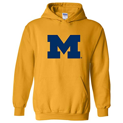AH02 - Michigan Wolverines Primary Logo Hoodie - Medium - Gold