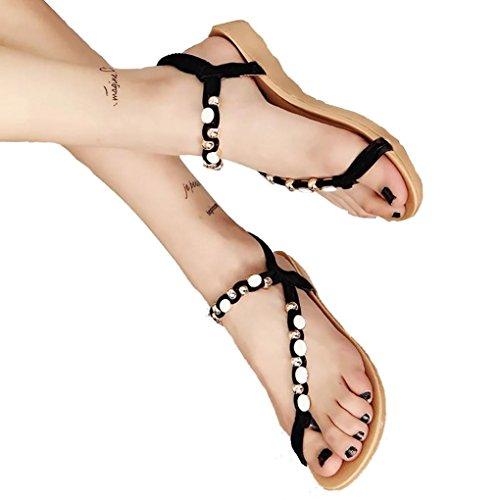 ZARLLE Sandalias Mujeres Moda Verano Plano