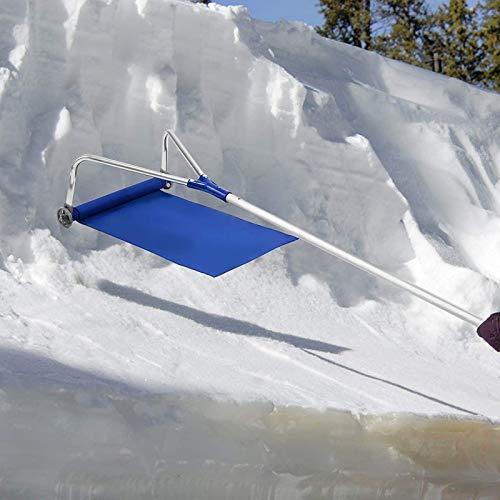 Nlight Dachschneeräumer Aluminium-Schneedach-Entfernungsrechen 21 Fuß Kratzfrei Ideal Zum Entfernen Von Schnee Blättern Schmutz,Dach-Schneeräumwerkzeug