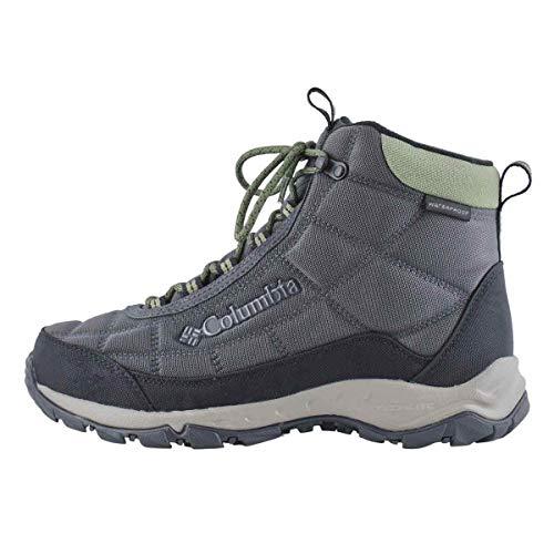 Columbia mens Firecamp Boot Hiking Shoe, Dark Grey/Hiker Green, 10.5 US