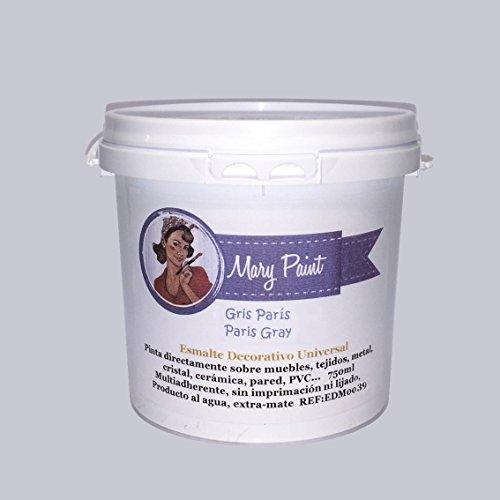 Mary Paint | Pintura para muebles efecto Chalk Paint, Gris Paris - 750ml