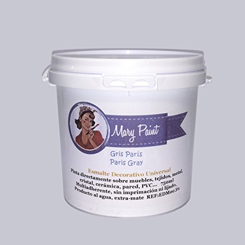 Mary Paint | Pintura para muebles efecto Chalk Paint, Gris Paris - 750ml