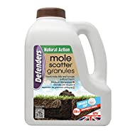 Defenders 2.5 kg Mole Scatter Granules (Humane, Natural Mole Deterrent, Use Year-Round, Covers Up to 250 sq m, Safe for Use Around Kids and Pets)