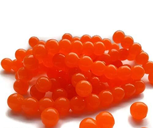 50 esche, uova di salmone arancione, per la pesca della trota con la mosca, 8mm