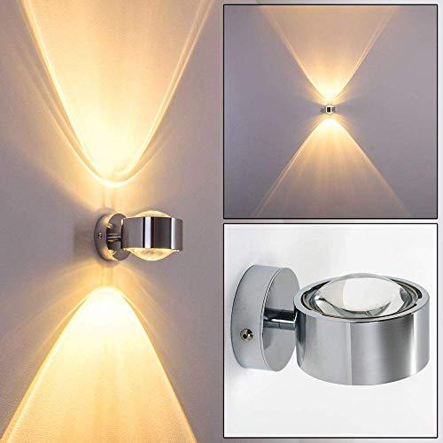Wandlamp Sapri recht metaal met glazen lenzen in de kleur - kamerlamp met LED of eco licht voor woonkamer - eetkamer - keuken - slaapkamer met grote lichtpatronen