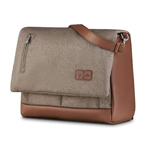 ABC Design Wickeltasche Urban Fashion Edition - Crossbody Bag mit Baby Zubehör – Messenger Bag - großes Hauptfach - breiten Schultergurt - Polyester - Farbe: nature