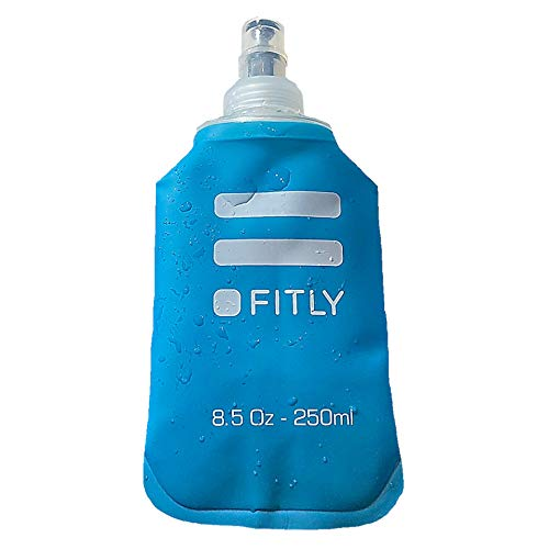 FITLY Soft Flask for Hydration Pack - Ideal for Running Hiking Cycling Climbing - Collapsible Water Bottle (8.5 oz - 250 ml)…
