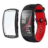 Hülle für Samsung Gear fit 2 Pro,BJJH Ultra-Slim TPU Schutzhülle Kratzfest Abdeckung R&herum Schutz Schlankes Hülle Cover für Samsung Gear fit 2 Pro (Schwarz)