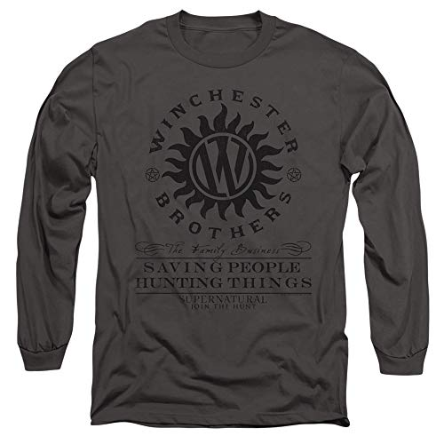 Supernatural Long Sleeve T-Shirt Winchester Brothers Charcoal 2XL