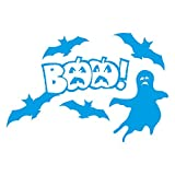1336_LBL Wandaufkleber Halloween decorations, BAA! (Light Blue)