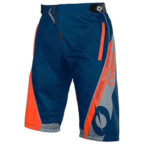 O'NEAL | Mountainbike-Hosen | Mountainbike MTB Downhill BMX | Strapazierfähiges Material, Elastischer Bund, Reißverschlusstaschen| Element FR Hybrid Shorts | Erwachsene | Blau Orange | Größe 32/48