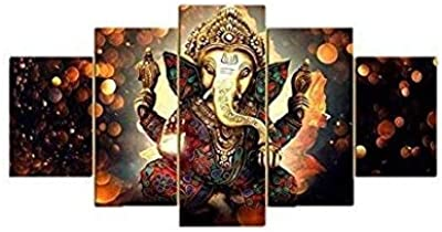 HighOnDesign Wood Religious Wall Painting, Multicolor, Printed, Standard