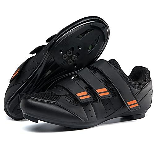 DSMGLSBB Calzado De Ciclismo para Hombre, Bloqueo De Carretera Zapatos De Ciclismo Sin Candados, Zapatos De Hombre Cuatro Temporadas Zapatillas De Ciclismo con Suela Rígida,41