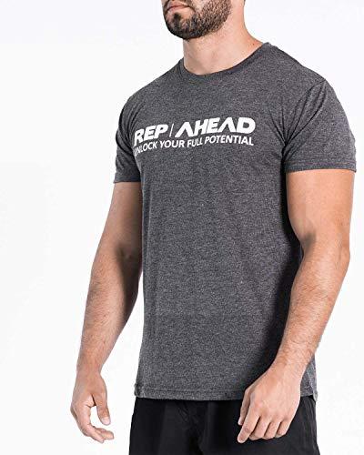 REP AHEAD® Shirts – Das Innovative Full Potential T-Shirt - Perfekt geeignet für Crossfit | Fitness | Gym | Gewichtheben | Bodybuilding | Kraftsport | Turnen | Calisthenics | Jogging | Freizeit (M)