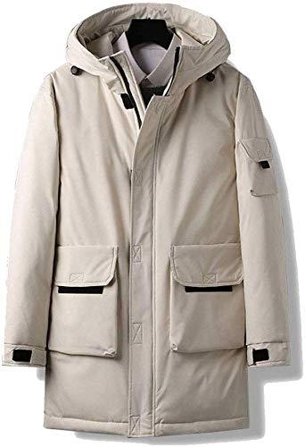 WANGXIAO Heren Warm Jack, Effen Kleur Front Volledige Rits En Plak Grote Pocket Lange Jas Student Winter Coltrui Kostuum.