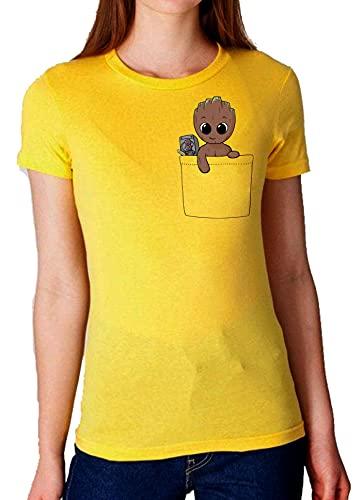 Camiseta de Mujer Guardianes de la Galaxia Groot Rocket Star Lord Drax Gamora 037 XXL