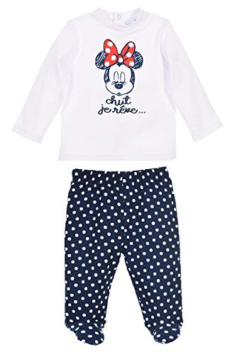 Minnie Mouse Baby - Mädchen T Shirt + Hose,Marineblau,6M/67cm
