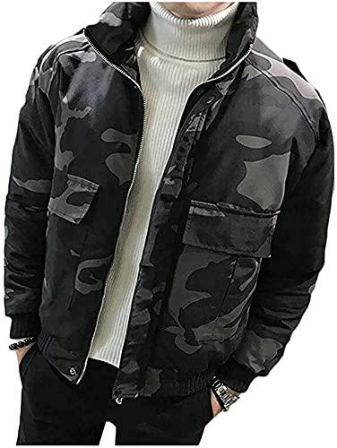 Chaqueta de camuflaje hipster acolchada de algodón para hombre