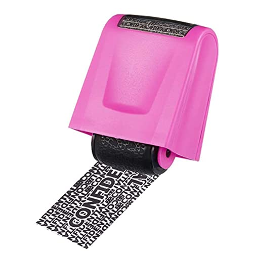 SHUIZHUYU Roller Stamp Identity Protection Roller Stamps Identity Guard Self Inking Wide Rolling Security for Security Anti Theft Privacy Safety Protection Blockout Information (Color : C)