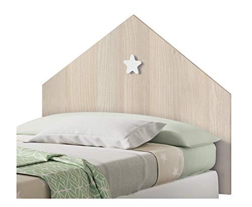 Muebles Pitarch Sweet Cabecero, Aglomerado de Partículas y Melamina de Alta Densidad, Aurora/Estrella Blanca, 80 x 100 x 1.6 cm