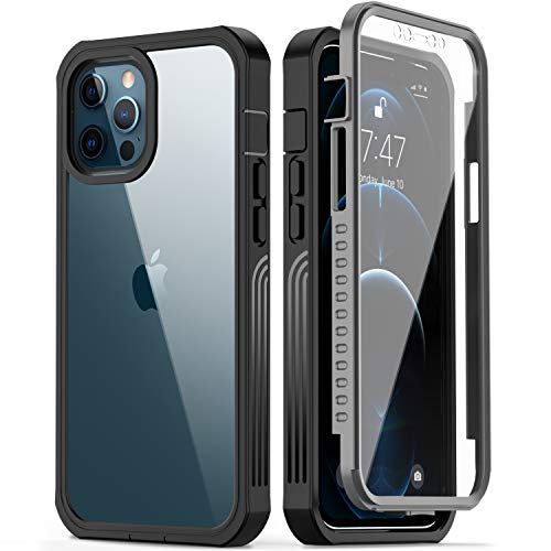 GOODON iPhone 12 Pro Max Case with Built-in Screen Protector