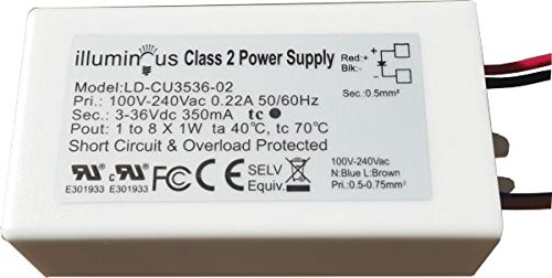 350mA Constant Current 1-8W DC LED Driver Transformer UL Approved