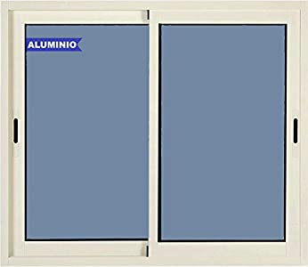 Ventana de Aluminio Corredera 1000 ancho x 600 alto 2 hojas Climalit